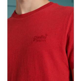 Superdry pánske tričko Embroidery - Červené