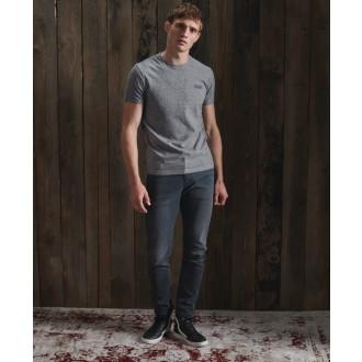 Superdry pánske tričko Embroidery - Sivá
