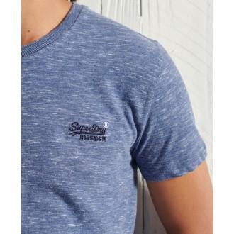 Superdry pánske tričko Embroidery - Modré
