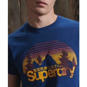 Superdry pánske tričko Core Logo Wilderness - Modré