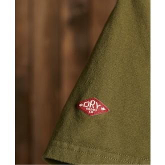 Superdry tričko Core Logo Woodstock - Zelené