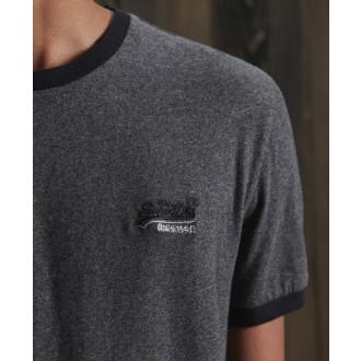 Superdry tričko Orange Label Ringer - Tmavosivá