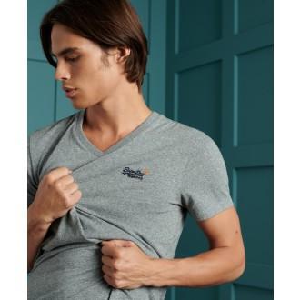 Superdry tričko Orange Label Classic - Sivé