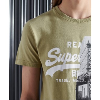 Superdry tričko Vintage Logo NYC Photo - Zelené