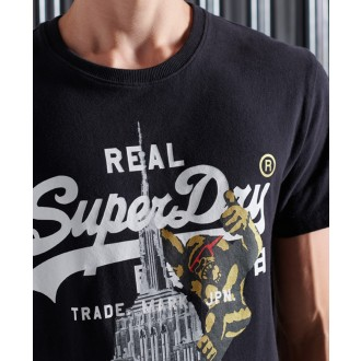 Superdry tričko Vintage Logo NYC Photo - Čierne
