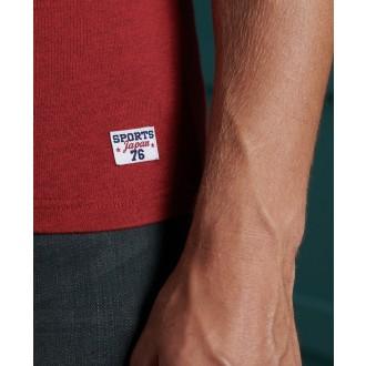 Superdry tričko Vintage Logo Varsity - Červené