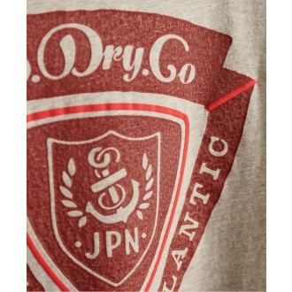 Superdry tričko Spirit Of Japan - sivé