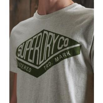 Superdry tričko Copper Label - Sivé
