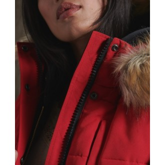 Superdry dámska bunda Everest Bomber - Červená