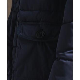 Superdry pánska bunda Parka - Tmavomodrá