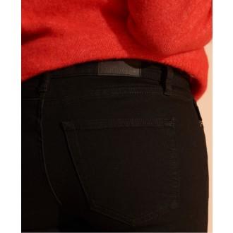 Superdry dámske riflové nohavice Mid Rise - Čierne