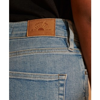 Superdry dámske riflové nohavice  High Rise - Bledomodré
