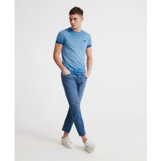 Superdry tričko Organic Cotton Low Roller - Tmavomodré