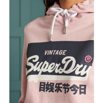 Superdry dámska mikina Original Pastel - Ružová