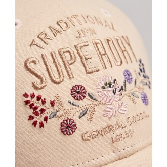 Superdry dámska šiltovka Embroidered - Béžová