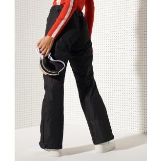 Superdry dámske lyžiarske nohavice Freestyle - Čierne
