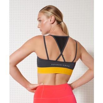 Superdry dámska športová podprsenka Strappy - Sivá