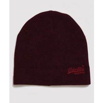 Superdry pánska čiapka Label - Červená