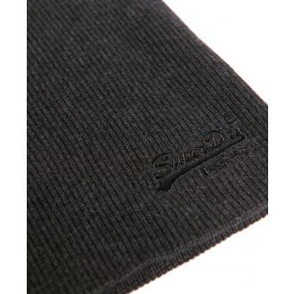 Superdry pánska čiapka Label - Tmavá sivá