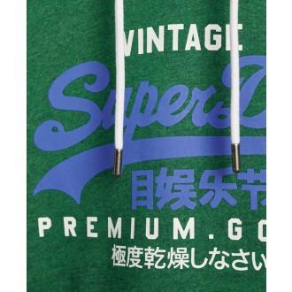 Superdry pánska mikina Vintage Logo Duo - Zelená