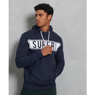 Superdry pánska mikina Panel Fleece - Námornícka