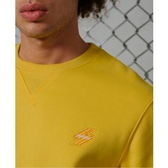 Superdry pánska mikina Sportstyle Crew - Žltá