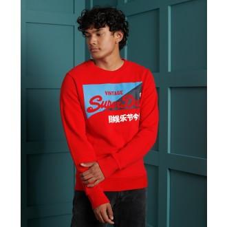 Superdry pánska mikina Primary Sweatshirt - Červená