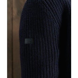 Superdry pánsky sveter Downhill - Modrá