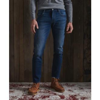 Superdry pánske riflové nohavice Slim Jeans - Tmavomodrá