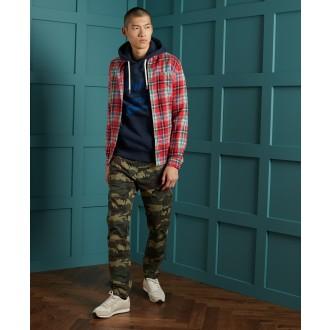 Superdry pánská košeľa Heritage Lumberjack - Červená