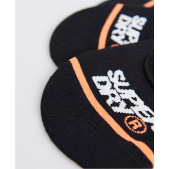 Superdry pánske ponožky No show 3 pack - Čierne