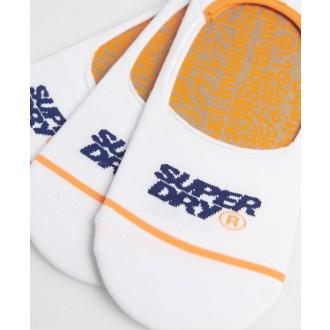 Superdry pánske ponožky No show 3 pack - Biele