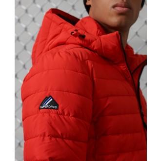 Superdry pánska bunda Hooded Fuji - Červená