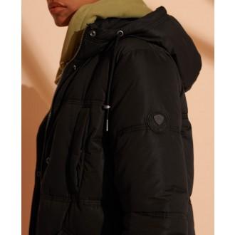 Superdry dámska zimná bunda Microfibre - Čierna
