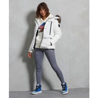 Superdry dámska zimná bunda Glacier - Biela
