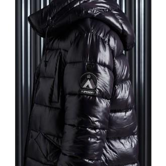 Superdry dámska zimná bunda High Shine - Čierna