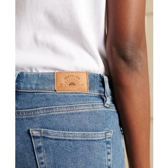 Superdry dámske riflové nohavice Skinny Jeans - Modré