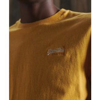 Superdry pánske tričko Organic Cotton Vintage Embroidery - YELLOW