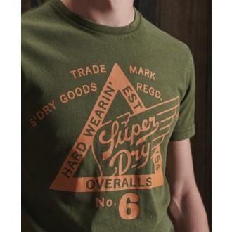 Superdry pánske tričko Copper Label - GREEN
