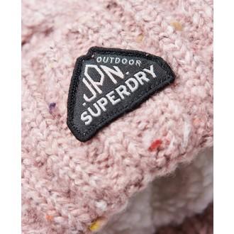 Superdry dámska čiapka Gracie Cable - Ružová