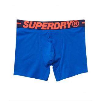 Superdry pánske boxerky Classic dvojbalenie - DARK BLUE