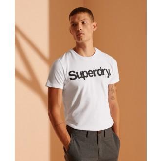 Superdry pánske tričko Core Logo - WHITE