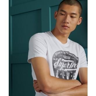 Superdry pánske tričko Lower East Side - CREAM