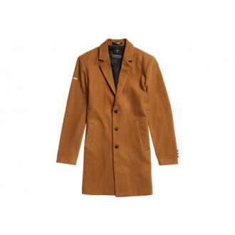 Superdry pánsky kabát Foundation Wool - PINK