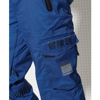 Superdry pánske lyžiarske nohavice Ultimate Snow Rescue - BLUE