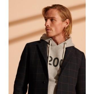 Superdry pánsky kabát Foundation Wool - NAVY