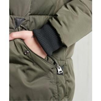 Superdry dámsky zimný kabát Longline Chinook - Zelená