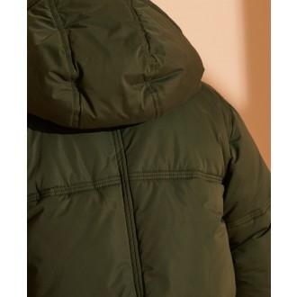 Superdry dámska zimná bunda Microfibre - Kaki