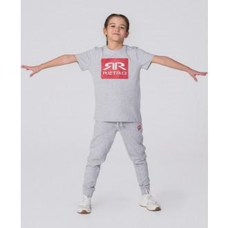 Retrojeans detské tričko KID T-SHIRT - Sivá