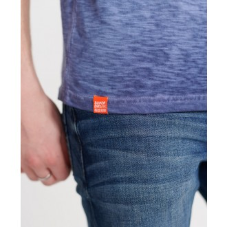 Superdry pánske tričko Organic Cotton Low Roller - Námornícka modrá